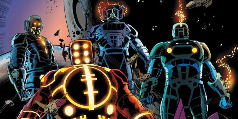 Marvel's the Eternals artwork by Jack Kirby